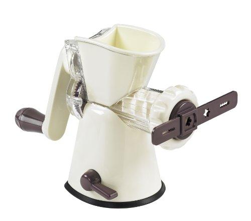 Lurch 10250 Hachoir avec accessoire pour pâtisserie Aubergine/crème