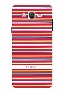 Noise Red Stripes Printed Cover for Samsung Galaxy J7