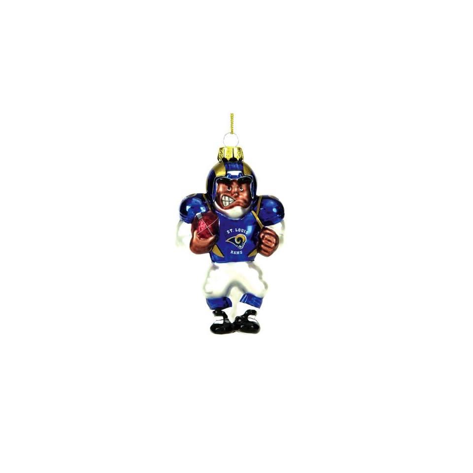 BSS   St. Louis Rams NFL Glass Player Ornament (5 African