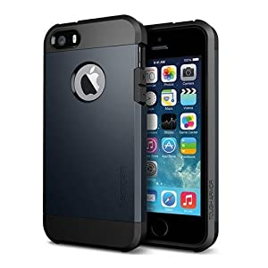 Spigen Tough Armor Cover Case for iPhone 5/5S - Metal Slate