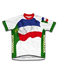 Khakassia Flag Short Sleeve Cycling Jersey for Women