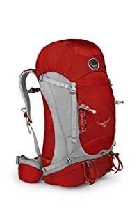 Osprey Packs Kestrel 58 Backpack (Fire Red, Medium/Large)
