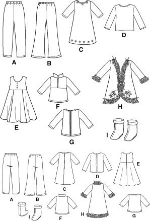 ... Simplicity 4786 Sew Pattern 18″ DOLL CLOTHES American Girl / Battat