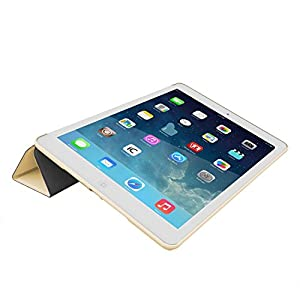 iPad Air 2 Case (iPad 6) - KHOMO DUAL Super Slim Gold Cover with Rubberized back and Smart Feature (Built-in magnet for sleep / wake feature) For Apple iPad Air 2 Tablet by iPad Air 2 Case