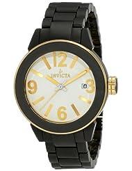 Invicta Women's 1165 White Dial Black Ceramic Watch