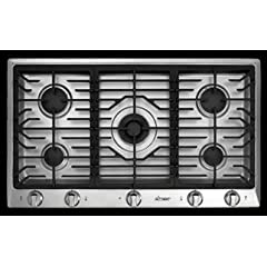 Dacor Distinctive DCT365SNG 36 Gas Cooktop 5 Sealed Burners NG