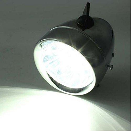 Zimo®Vintage Retro Bicycle Bike Front Light Lamp 7 LED Fixie Headlight with Bracket 4