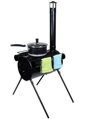 Portable Military Camping Wood Stove Tent Heater Cot Camp Ice-Fishing Cooking RV (Element Wood Stove compare prices)