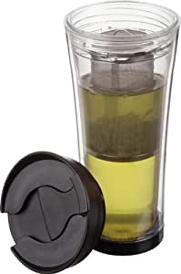 Trudeau Tea-Mendous 16-Ounce Tea Tumbler, Clear