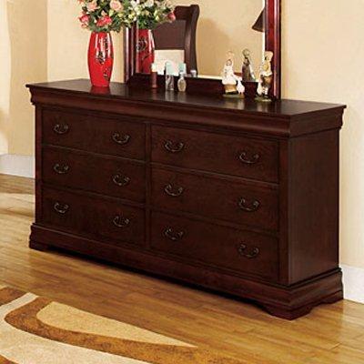 Laurelle Dresser In Dark Cherry Finish By Furniture Of America # Cm7815D front-1017612