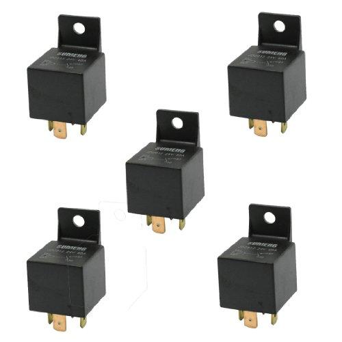 5 Pcs Insulation Housing Car Relay 4 Pin Terminals 1Nc Spst 24Vdc 40A