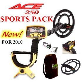 Garrett ACE 250 Metal Detector Deluxe Sports Pack