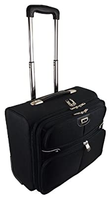 High Quality Wheeled Business Flight Pilot Bag Case Briefcase Hand Luggage