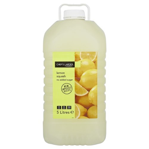 Chefs Larder Whole Lemon Squash No Added Sugar 1 x 5litre