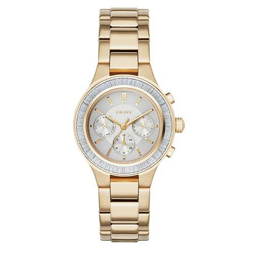 DKNY (DNKY5)-Orologio da donna al quarzo, con Display analogico e braccialetto in acciaio INOX con NY2395, colore: oro