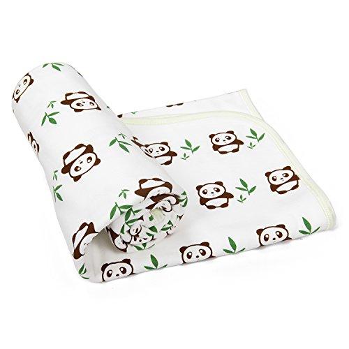 Babydecke-Kinderdecke-Babybettdecke-Erstlingsdecke-mit-niedlichem-Panda-Motiv-aus-SUPER-KUSCHELIGER-Baumwolle-fr-Jungen-und-Mdchen