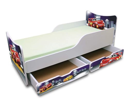 worlds apart 864457 lit disney cars avec rangements et etag re. Black Bedroom Furniture Sets. Home Design Ideas