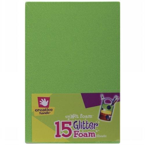 Fibre Craft 2451201 Glitter Foam Sheets 5.5 x 8.5 Inch 15/Pkg