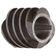 "Martin WG12Q Worm, Quadruple Lead, 14.5° Pressure Angle, High Alloy Steel, Inch, 1.125"" Face, 5/8"" Bore Diameter, 1"" Pitch Diameter"