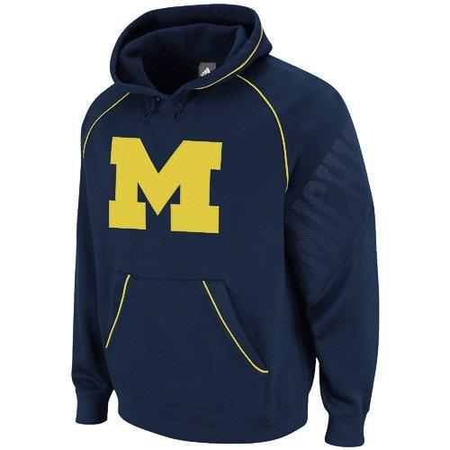 Michigan Wolverines NCAA Hoops Pullover Hooded Sweatshirt (XL)