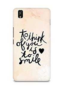 AMEZ to think of you is to smile Back Cover For OnePlus X