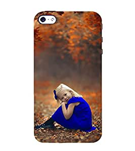 Beautiful Girl in Blue Frock and Ribbon 3D Hard Polycarbonate Designer Back Case Cover for Apple iPhone 4 :: Apple iPhone 4S