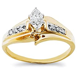 10k Choice of White or Yellow Gold Diamond Bridal Set