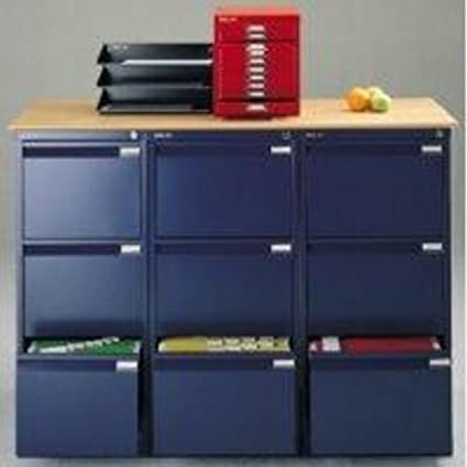 Bisley Bs3E ficheros 3-cajón H1016mm Bs3E, color azul (Oxford)