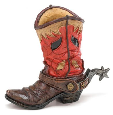Western Cowboy Boot Vase Planter For Western Decor,Weddings,Functions