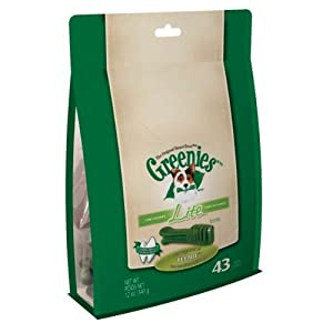 Greenies LITE Treat-Pak for Dogs, 12-Ounce, Petite