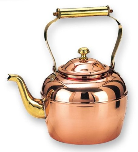 2.5 Qt. Decor Copper Teakettle w/ Brass Handle