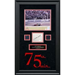 GORDON, JEFF FRAMED 8x10 w AUTO 75TH WIN CUTOUT METAL SUIT - Mounted Memories... by Sports Memorabilia