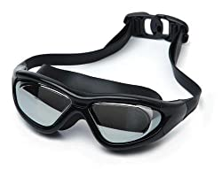 Premium Quality Professional Swimming cum Diving Goggles - Slip-Resistant + Waterproof + UV Protect Shield + Anti-Fog Swimwear for Water Sports
