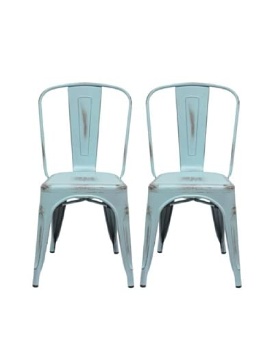 Aeon Furniture Set of 2 Garvin Chairs, Light Blue