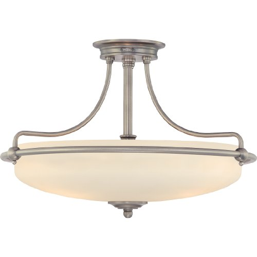 Quoizel GF1721AN Griffin 4 Light 21-Inch Semi Flush Mount, Antique Nickel Quoizel B00364FMIM