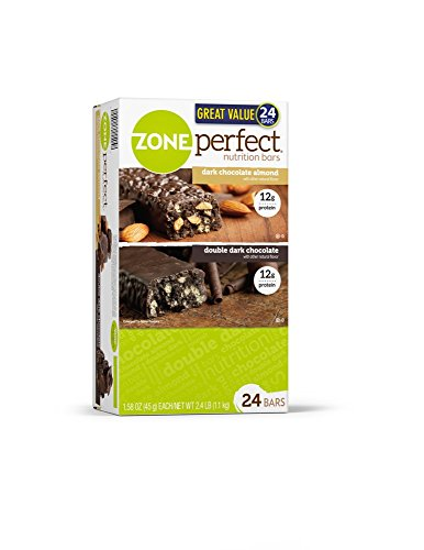 Zoneperfect High Protein Nutrition Bars, Dark Chocolate Almond & Double Dark Chocolate (24 Ct)
