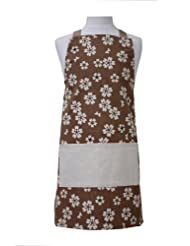 ASD Living for The Home Organic Flower Kid's Butcher Apron, Brown by ASD Living