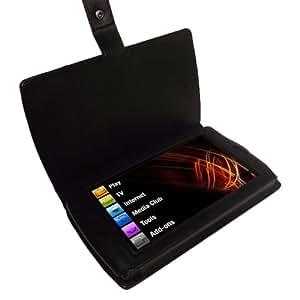 igadgitz Leder Tasche Etui Schutzhülle Case Hülle echtes Napa Leder in Schwarz für Archos 7 Android Home Tablet 8GB