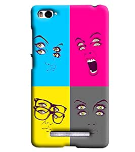 Blue Throat Double Specs Double Eyes Printed Designer Back Cover/Case For Xiaomi Mi4i