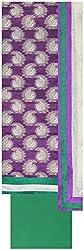 Laxmi Creations Women's Silk Unstitched Dress Material (Purple)