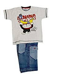 IL n ELLE T shirt and shorts combo for baby boys for 2-3 yrs