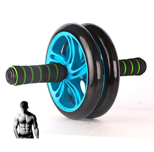 Meiz-Health--AB-Wheel-XL-Size-Extra-Thickness-and-Strong-Dual-Roller-Abdominal-Trainer-2015-New-Design