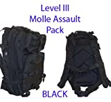 Level III Lv3 Molle Assault Pack Backpack--BLACK