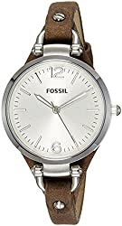 Fossil Georgia Analog Silver Dial Womens Watch - ES3060