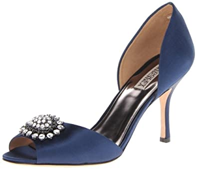 Badgley Mischka Women's Lacie Pump,Navy,5 M US