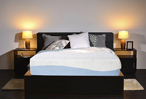Olee Sleep 10 Inch Gel Infused Layer Top Memory Foam Mattress Blue...