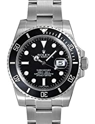 Rolex Submariner Black Dial Ceramic Bezel Steel Mens Watch 116610LN