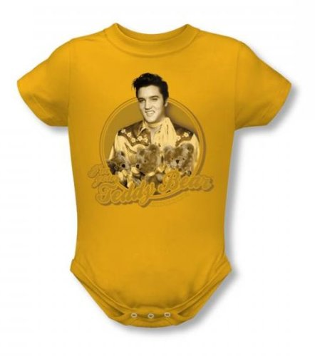 Elvis - Teddy Bear Infant T-Shirt In Gold, Size: