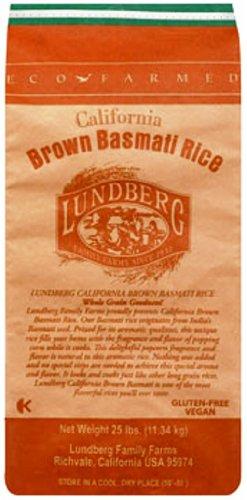 Lundberg Basmati Rice, California Brown, 25 Pound (Brown Rice Bulk compare prices)