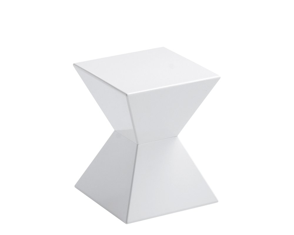 Sunpan Modern Rocco End Table, White